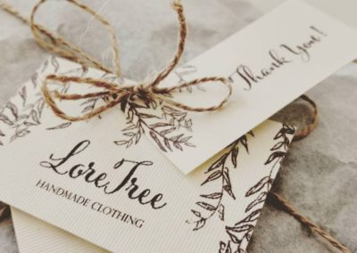 LoreTree business card design