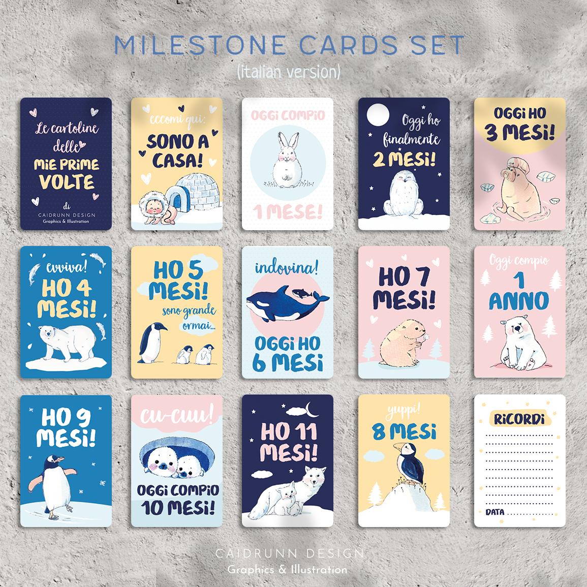 milestone card set