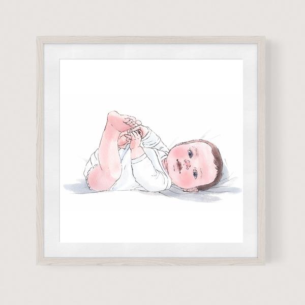 baby girl drawing