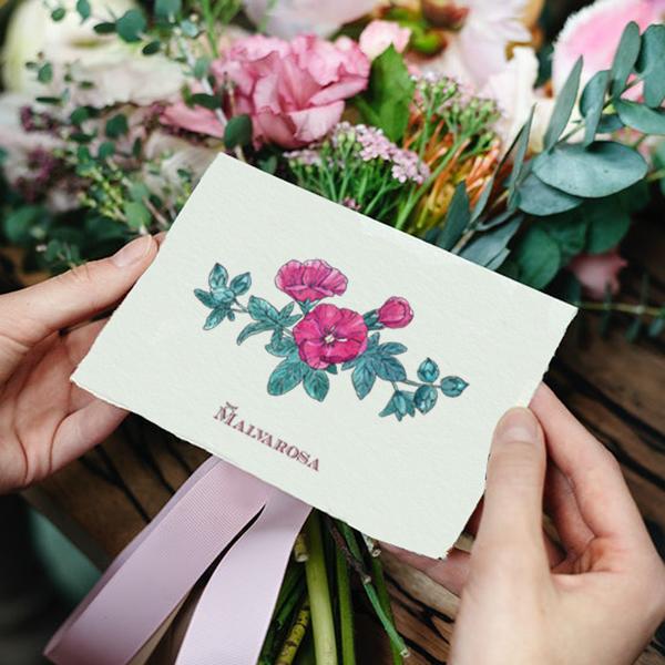 florist bouquet card