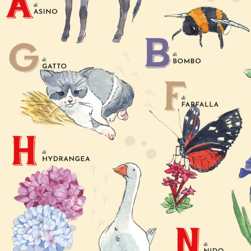 detail from illustrated alphabet
