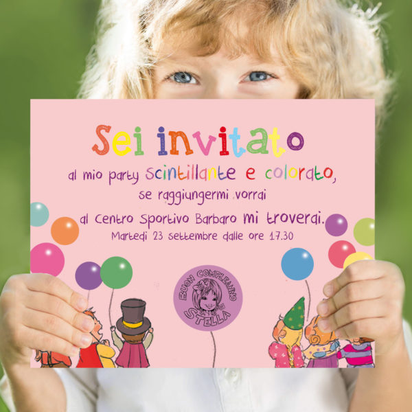 invito colorato divertente festa bimbi