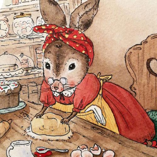 illustration detail of rabbit