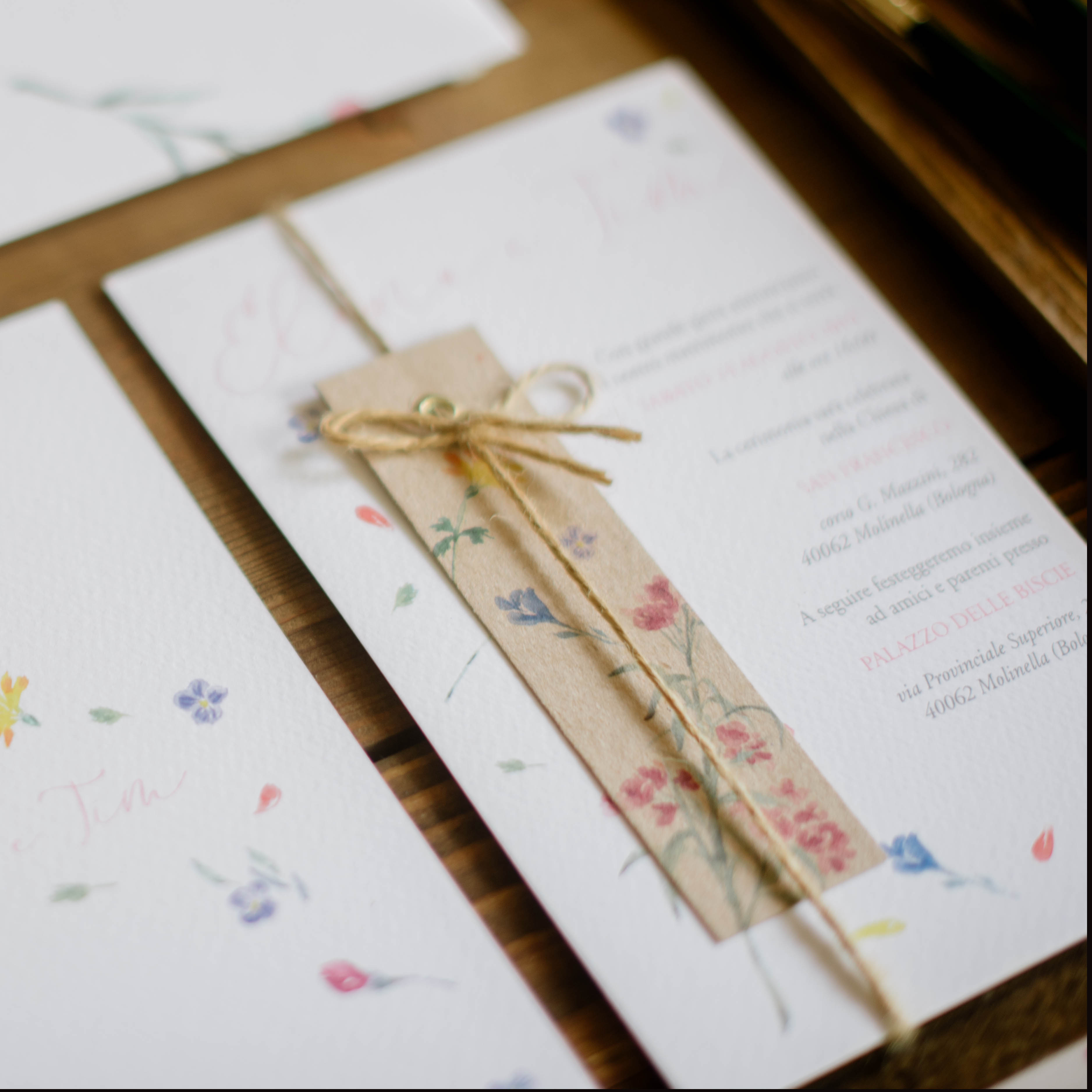 floral invitation card detail