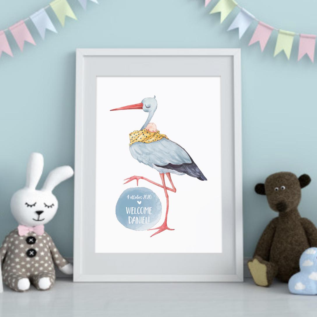 baby boy stork print