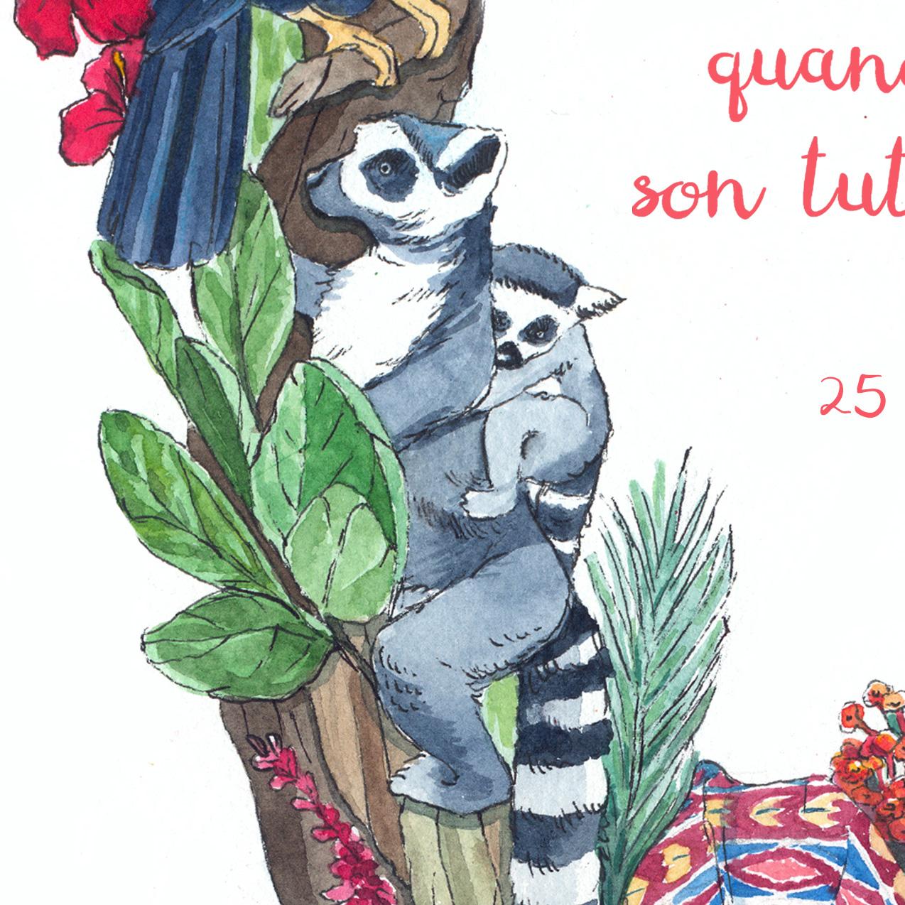lemure watercolor detail