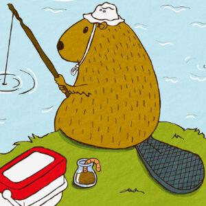 beaver fishing