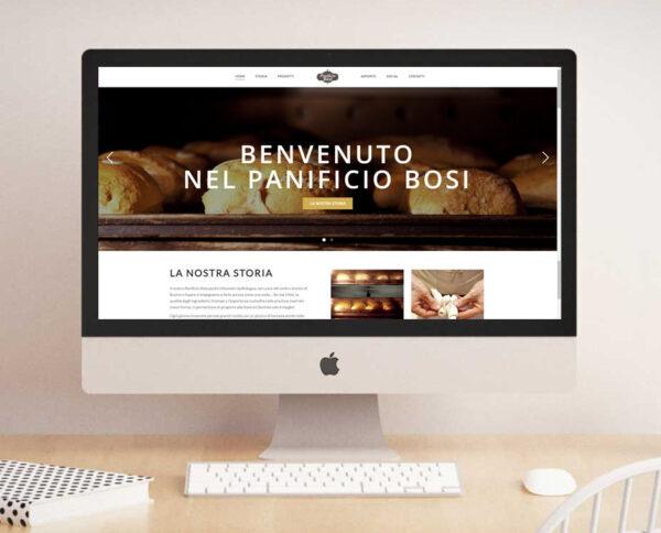 bakery website for desktop