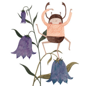 bug dancing on flowers