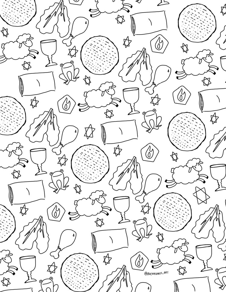 sheeps and food pattern