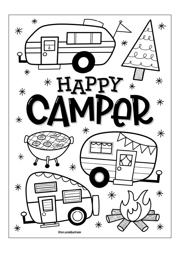 camper drawing