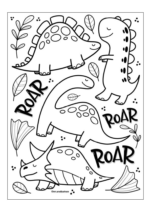 dinosaurs drawing