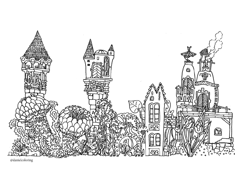 enchanted castle drawing