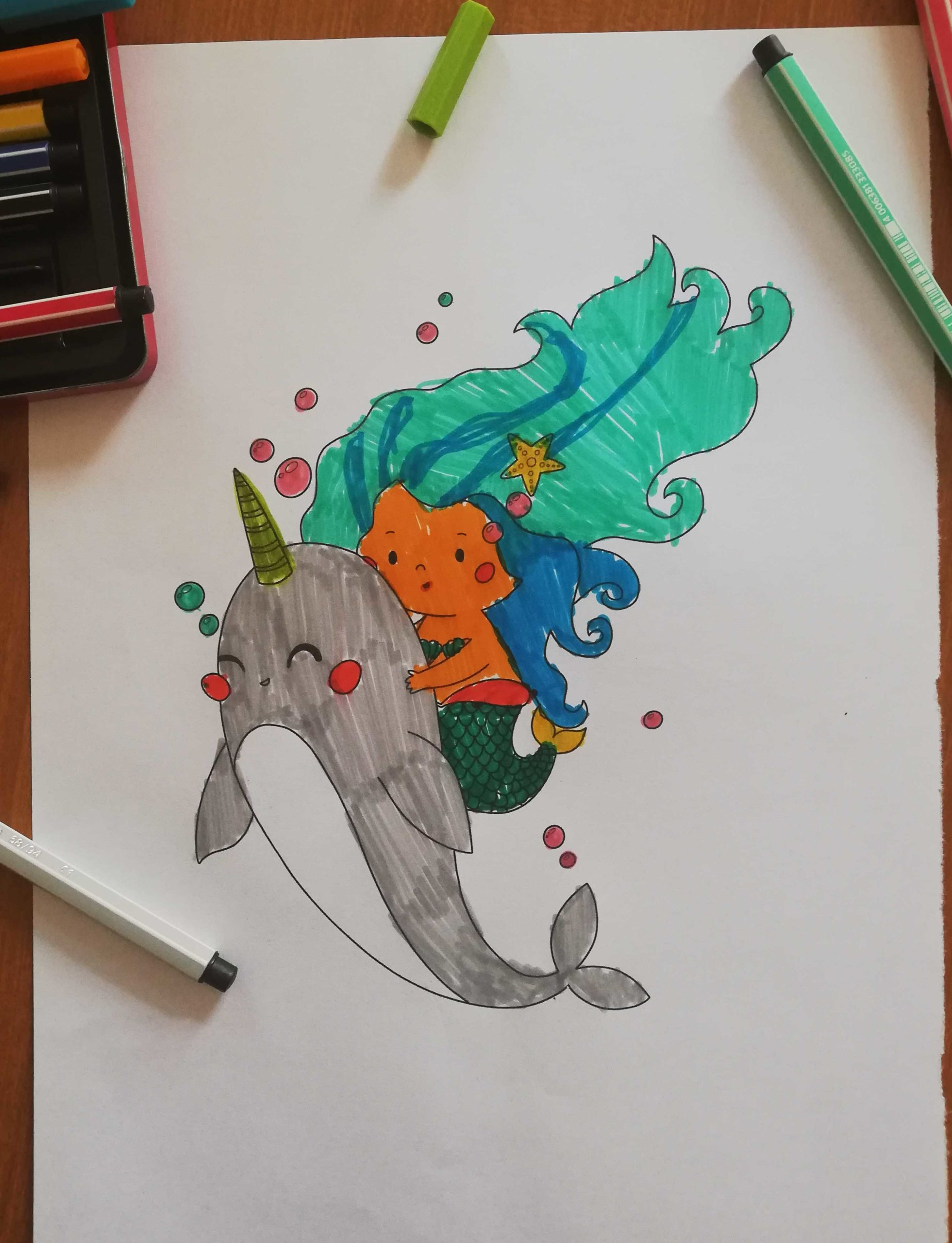 coloring page of siren