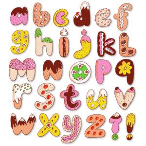 sweet treats alphabet