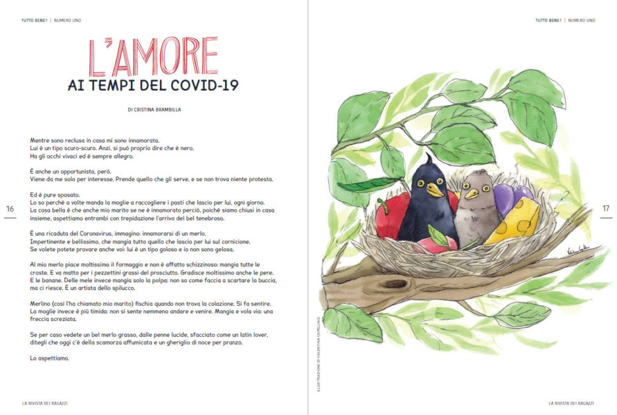 illustrated magazine spread