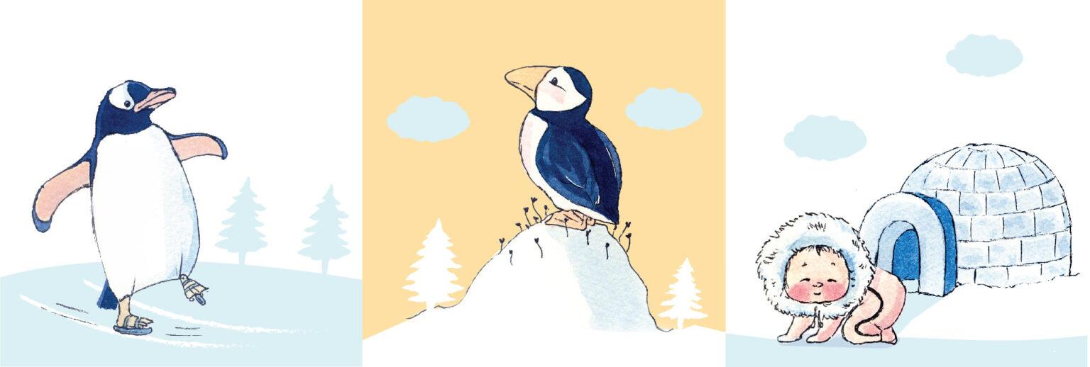 arctic animals illustration