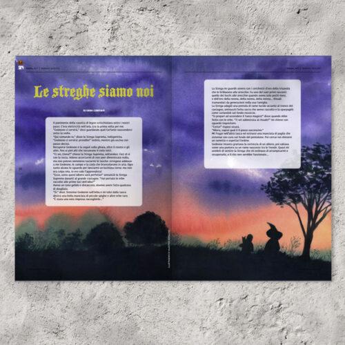 doppia pagina rivista illustrata