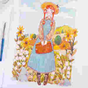 anne of green gables drawing