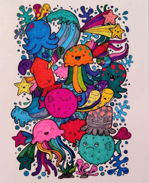 colored drawing elisa