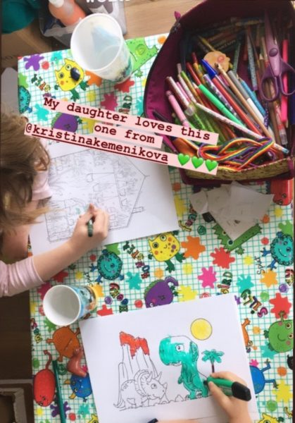 kids coloring drawings